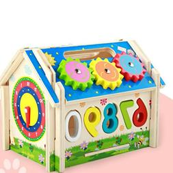 1 Set Wooden Educational Toy Kid Multifunctional Toy Kids Si