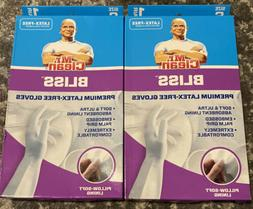 2 pair Mr Clean Bliss Premium Ultra Absorbent Latex Free Glo