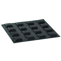 20 Small Black Square Bumps 4 Low Vision,Tactile Markings, A