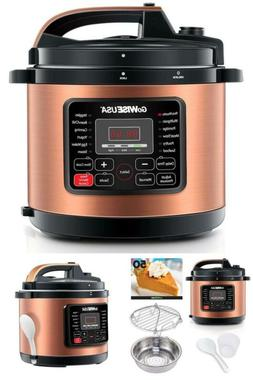 Electric Pressure Cooker Non Stick Interior 6 Qt. Copper Sma