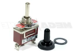 Toggle Switch Heavy Duty 20A/125V Momentary SPDT -Off- w/Wat