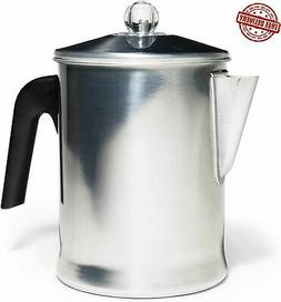 Heavy Duty Stove Top Percolator Yosemite Smooth Coffee Maker