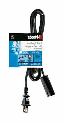 Woods  18/2 HPN  125 volt 6 ft. L Small Appliance Cord