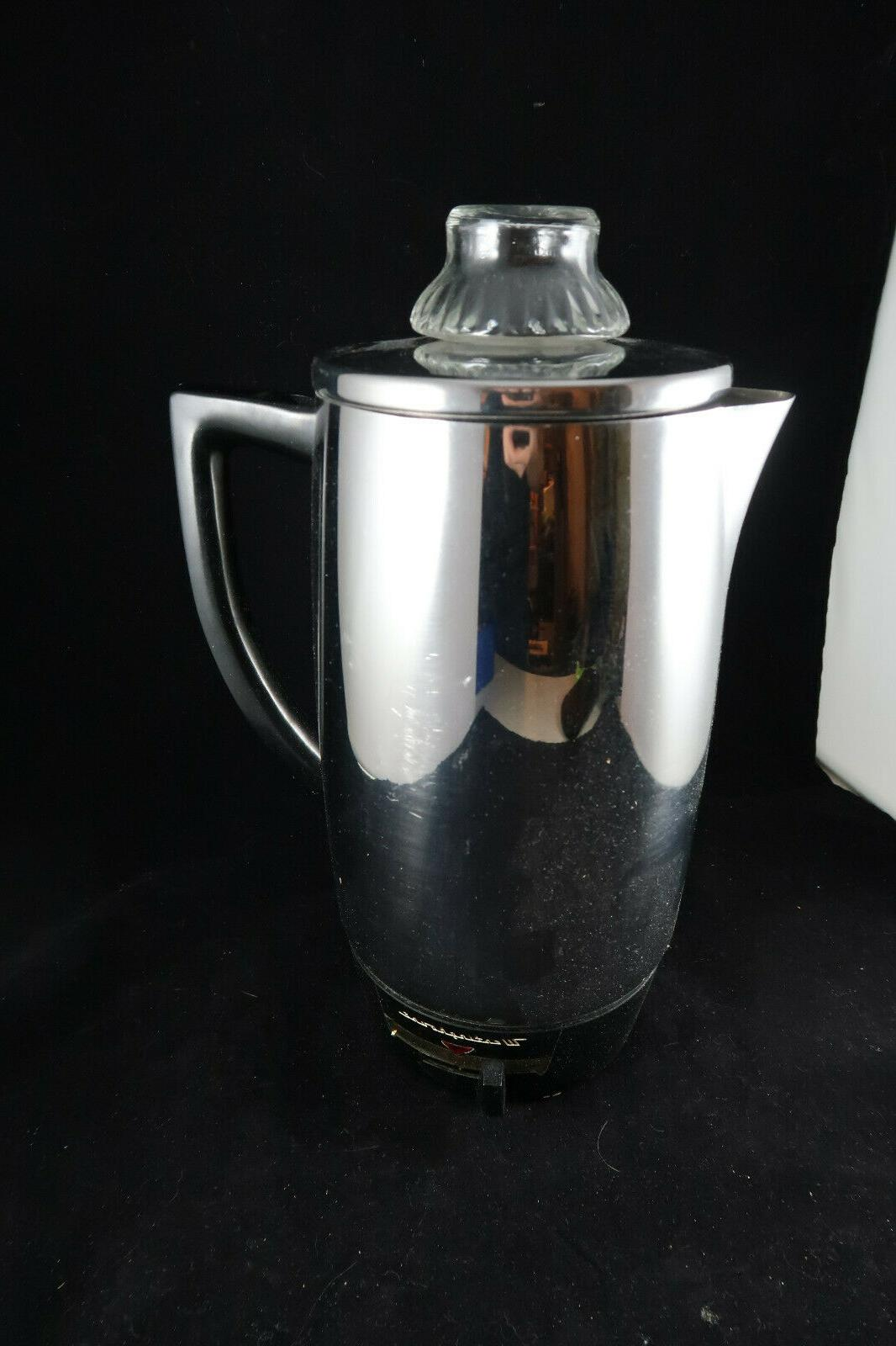 vintage chrome 10 cup coffee pot electric