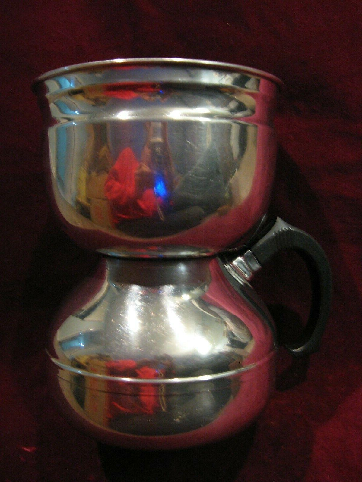 vintage vacuum stovetop stainless st coffee pot