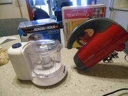 Lot of 2  small kitchen appliances- Red Sunbeam mixer & 1.5