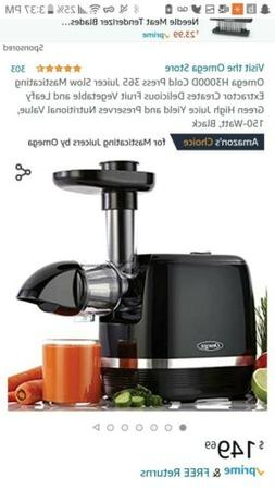 Omega H3000D Cold Press 365 Juicer Slow Masticating Extracto