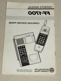 Southwestern Bell Cordless Feature Phone Owner's Manual FF-1