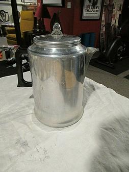 Vintage 20 Cup Aluminum Coffee Percolator for Camping or Sto
