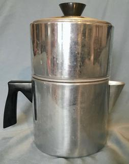 Vintage Foley 7 Cup Drip O Lator  Aluminum Coffee Pot Manito