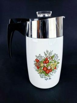 VTG 9 Cup P-149 Corning Ware Coffee Carafe Le Cafe Pre Owned